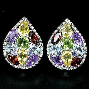 Серьги с натуральными камнями (www.gelioz.com)